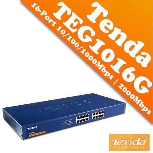 SWICHT 16-PORT TENDA GIGABIT TEG1016D 10/100/1000