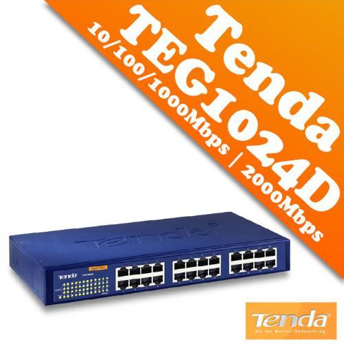 SWICHT 24-PORT TENDA GIGABIT TEG1024D 10/100/1000