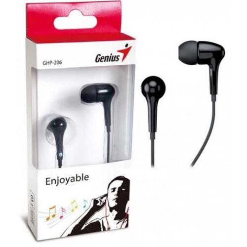 AURICULARES GENIUS GHP-206 IN EAR HEADPHONE BLACK