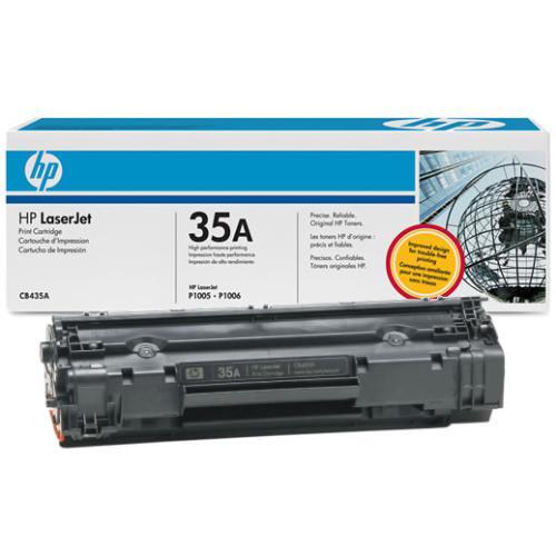 HP ORIGINAL TONER CB435A HP35A P/ P1005/P1006