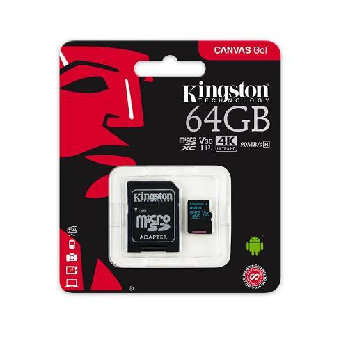 MEMORIA 64GB MICRO SD XC V30 4K ULTRA HD 90MBS R